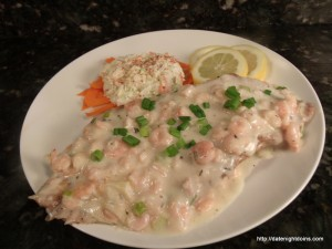 Red Snapper with Creamy Shrimp Sauce