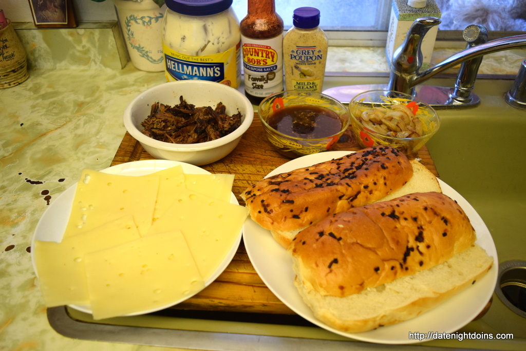 Shredded Beef & Swiss Subs for Two, wood pellet grill, recipe, smoker, BBQ