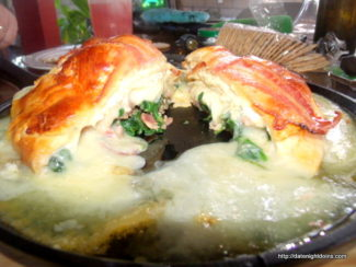 Spinach Stuffed Brie en Croute